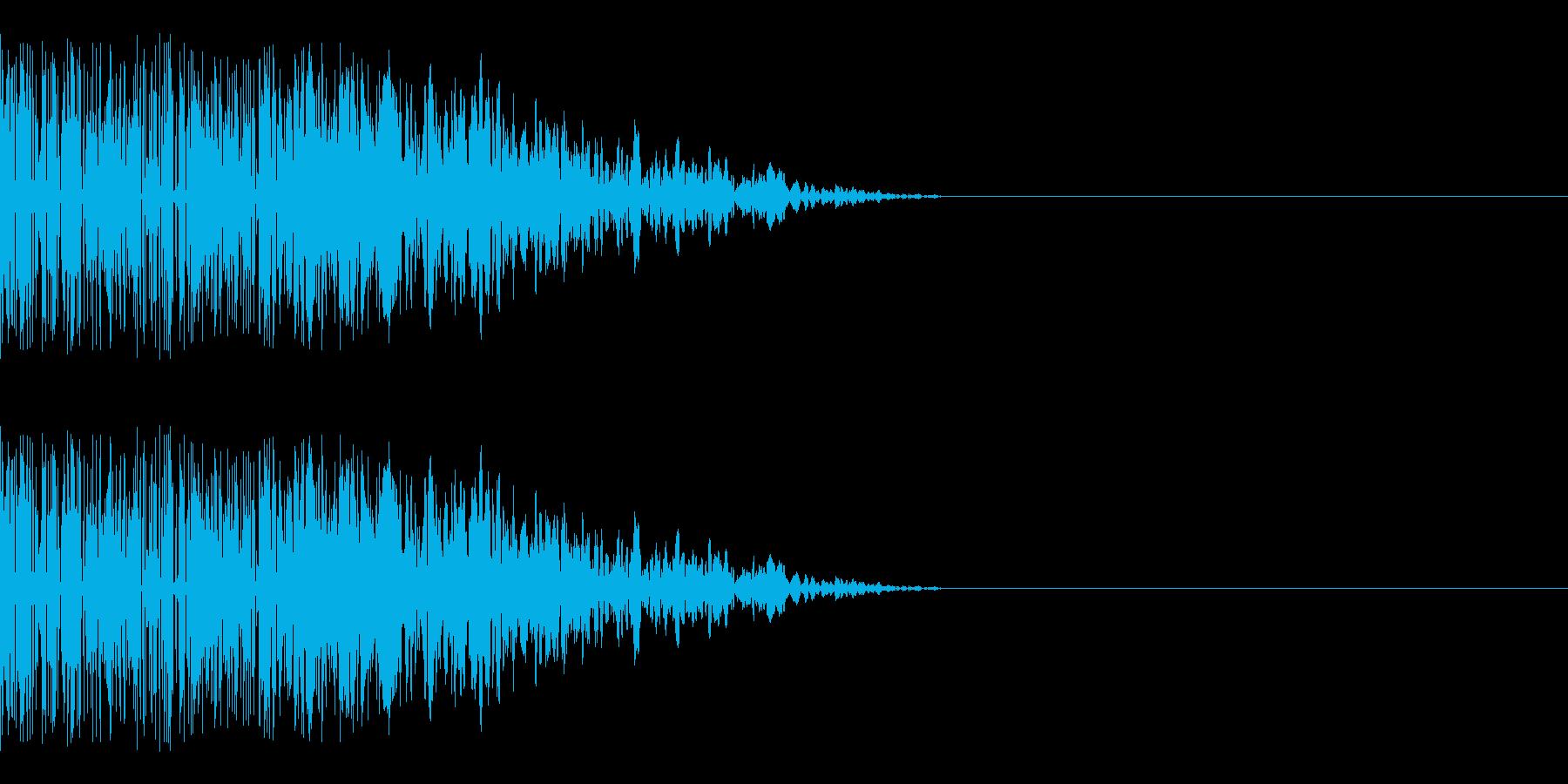 シャキーン(クリティカルヒット/斬撃)の再生済みの波形