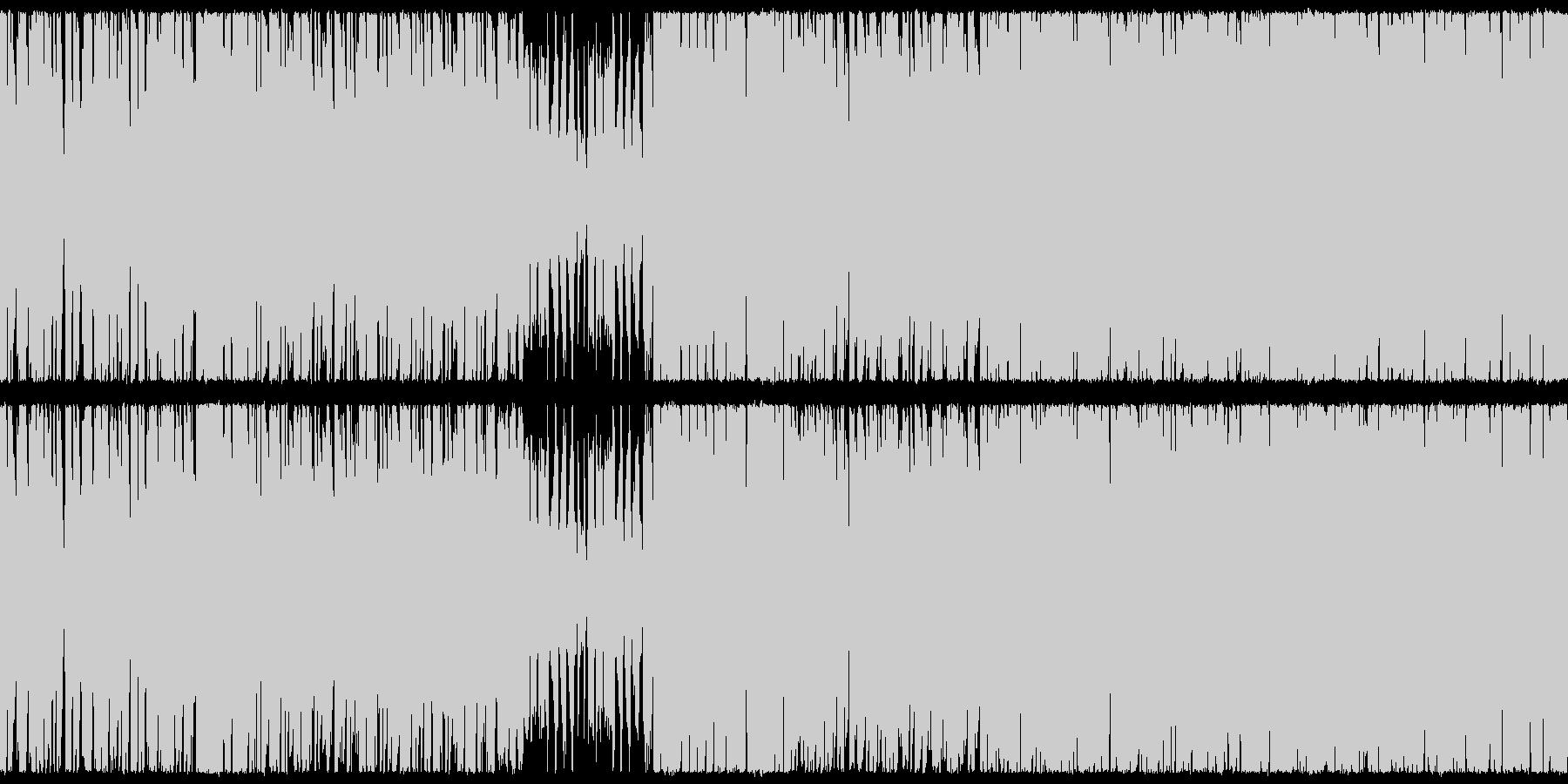 【生演奏】パワフルな猫ボーカルBGMの未再生の波形