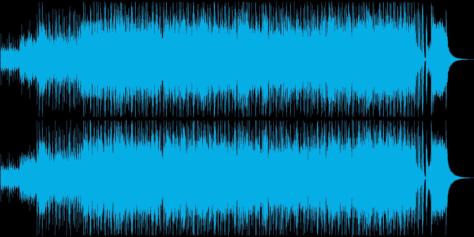 刑事ドラマに合うようなワイルドなサウンドの再生済みの波形