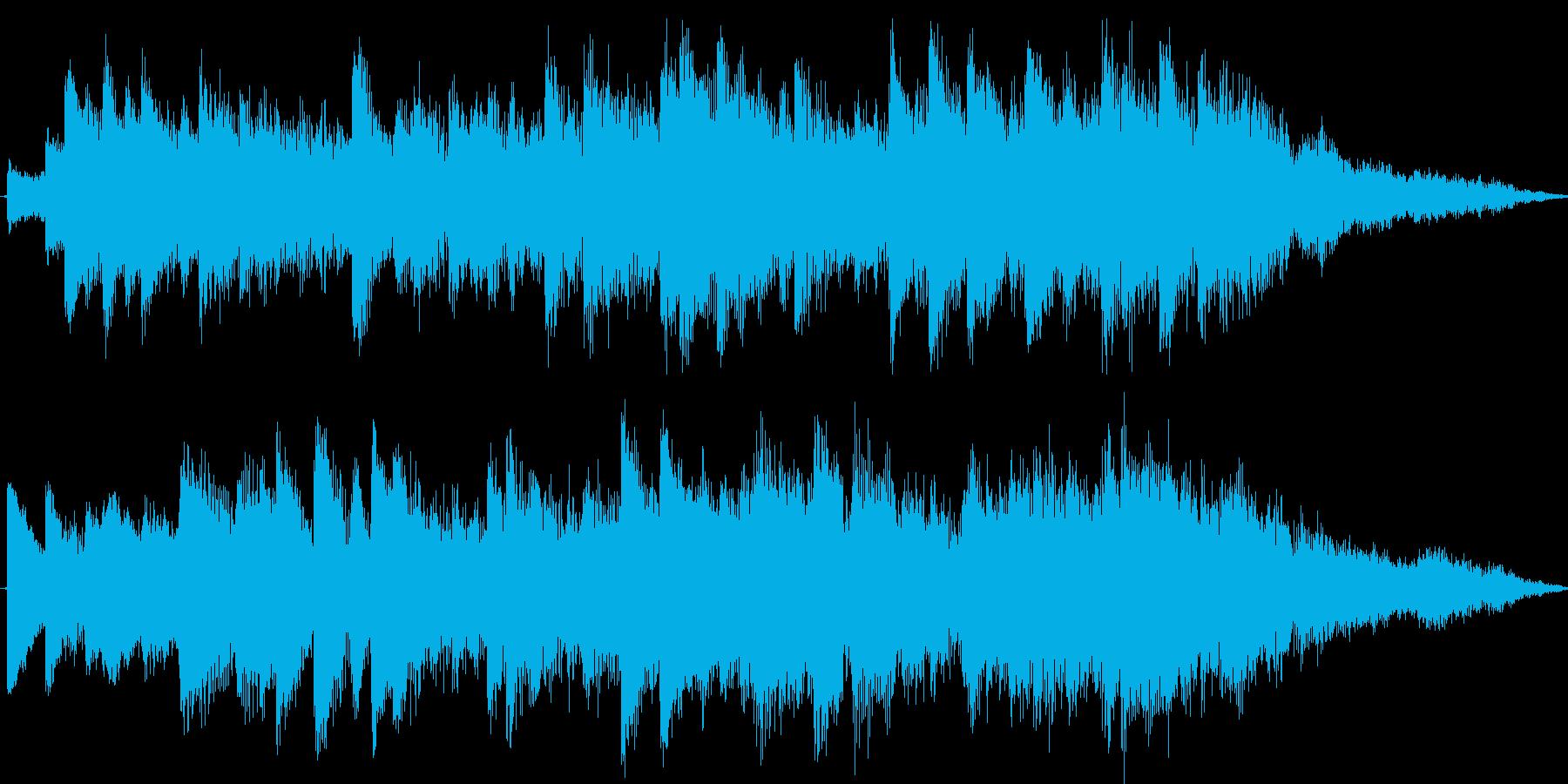 ファンタジックで不思議なシンセジングルの再生済みの波形