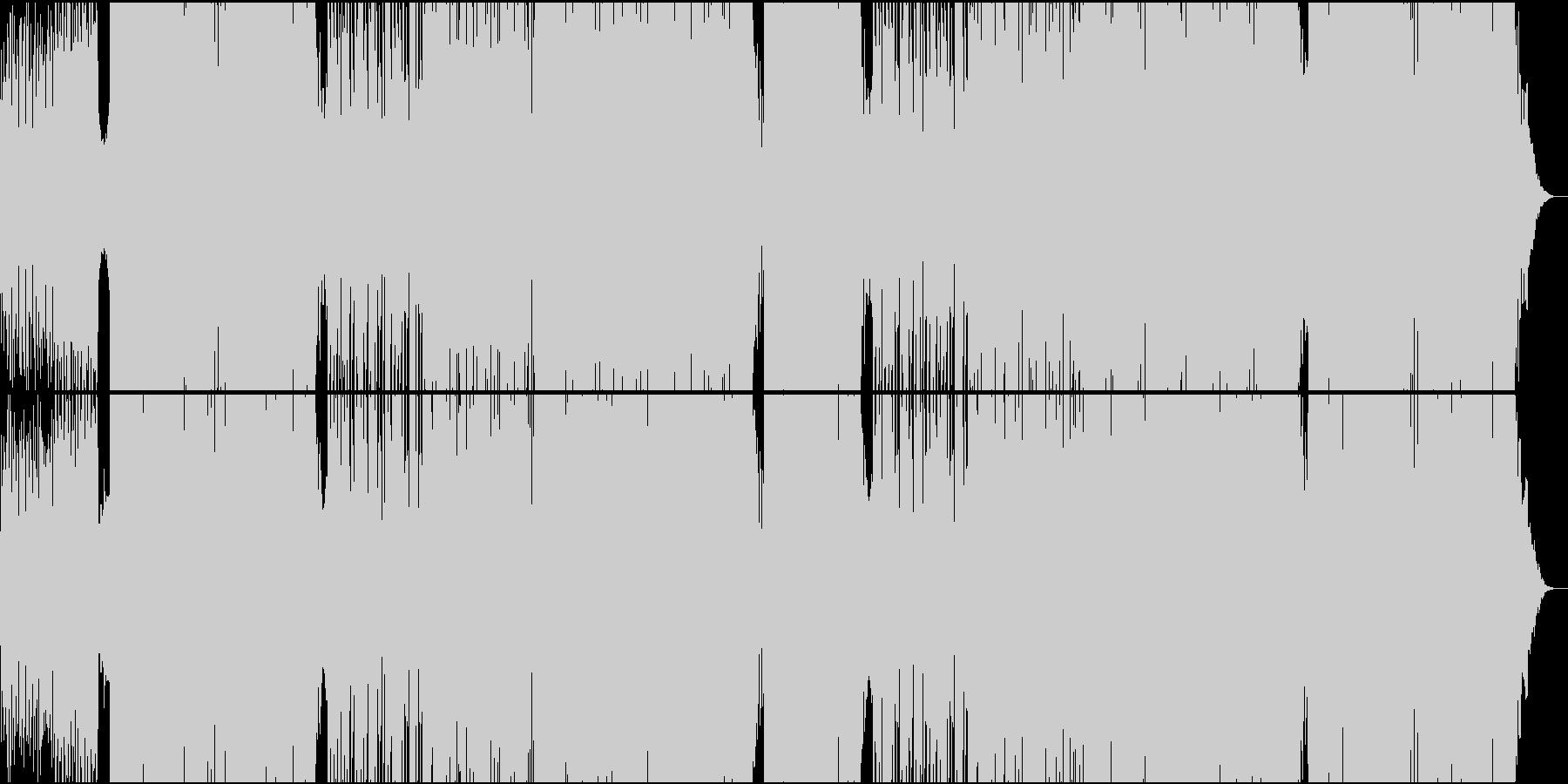 EDMほのぼのとした70'和風ダンスの未再生の波形