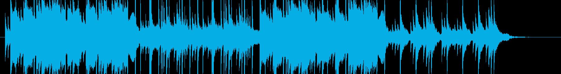 和風・ホラーっぽい不思議系BGMの再生済みの波形