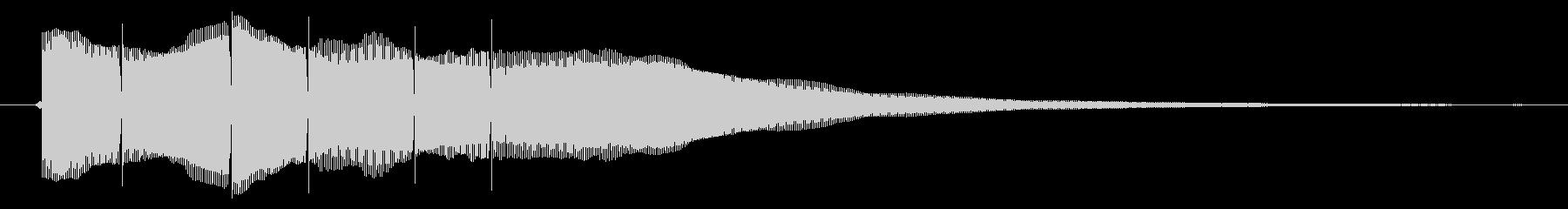 クイズの正解音(ピンポーン×3)の未再生の波形