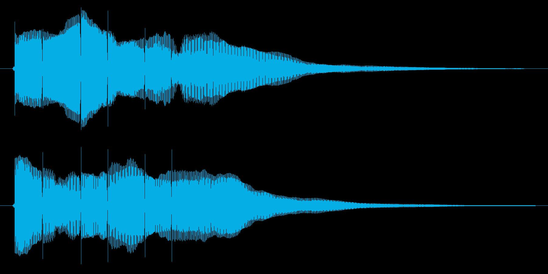 クイズの正解音(ピンポーン×3)の再生済みの波形