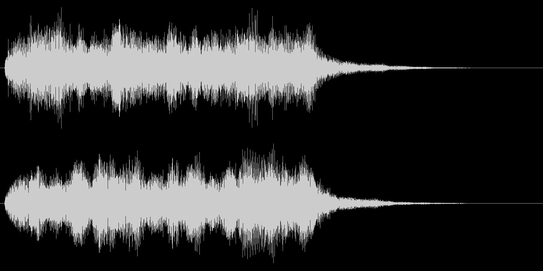 オーケストラ系のクリア音 レベルアップの未再生の波形