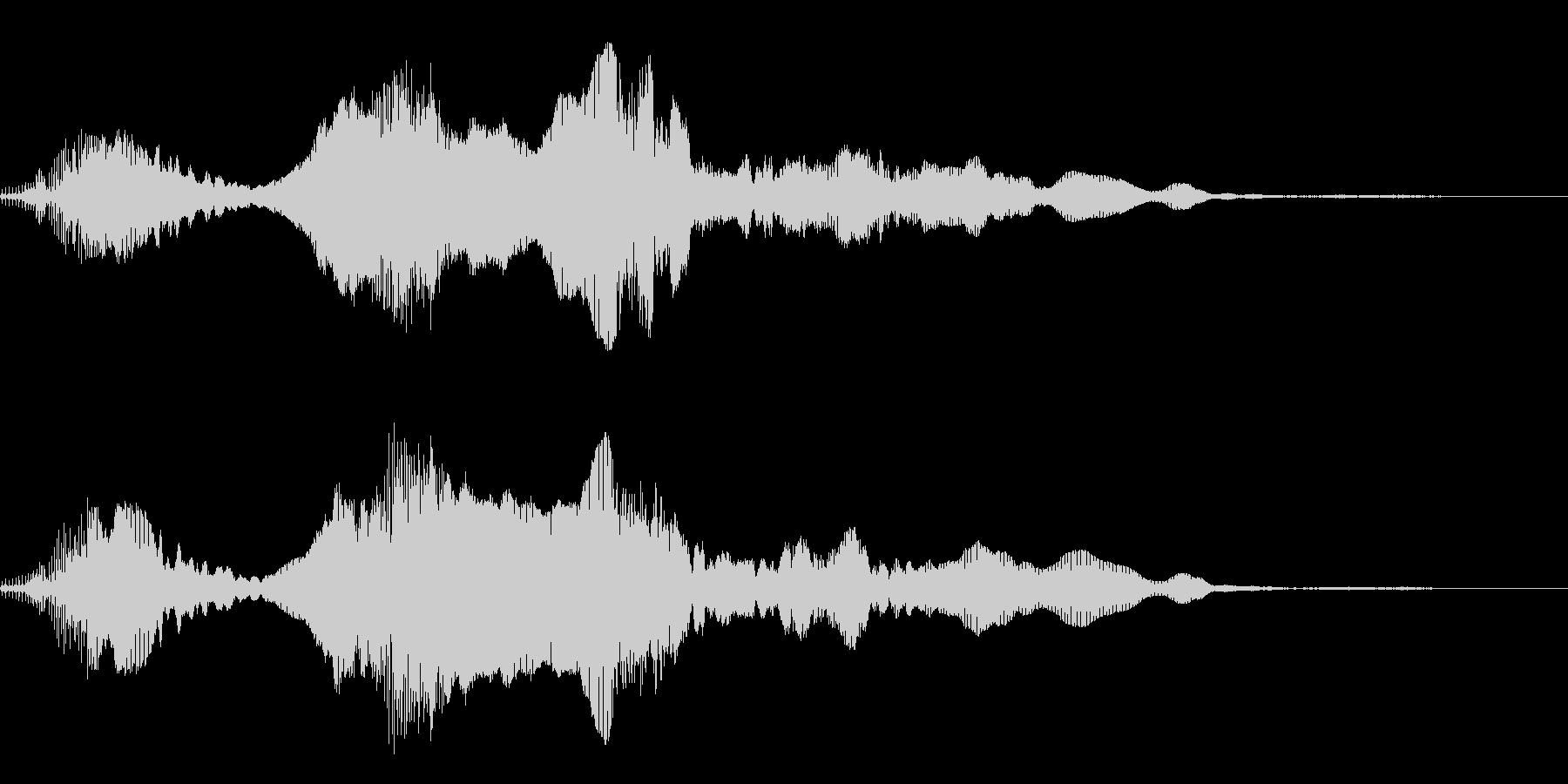 犬の鳴き声(キャイーン)の未再生の波形