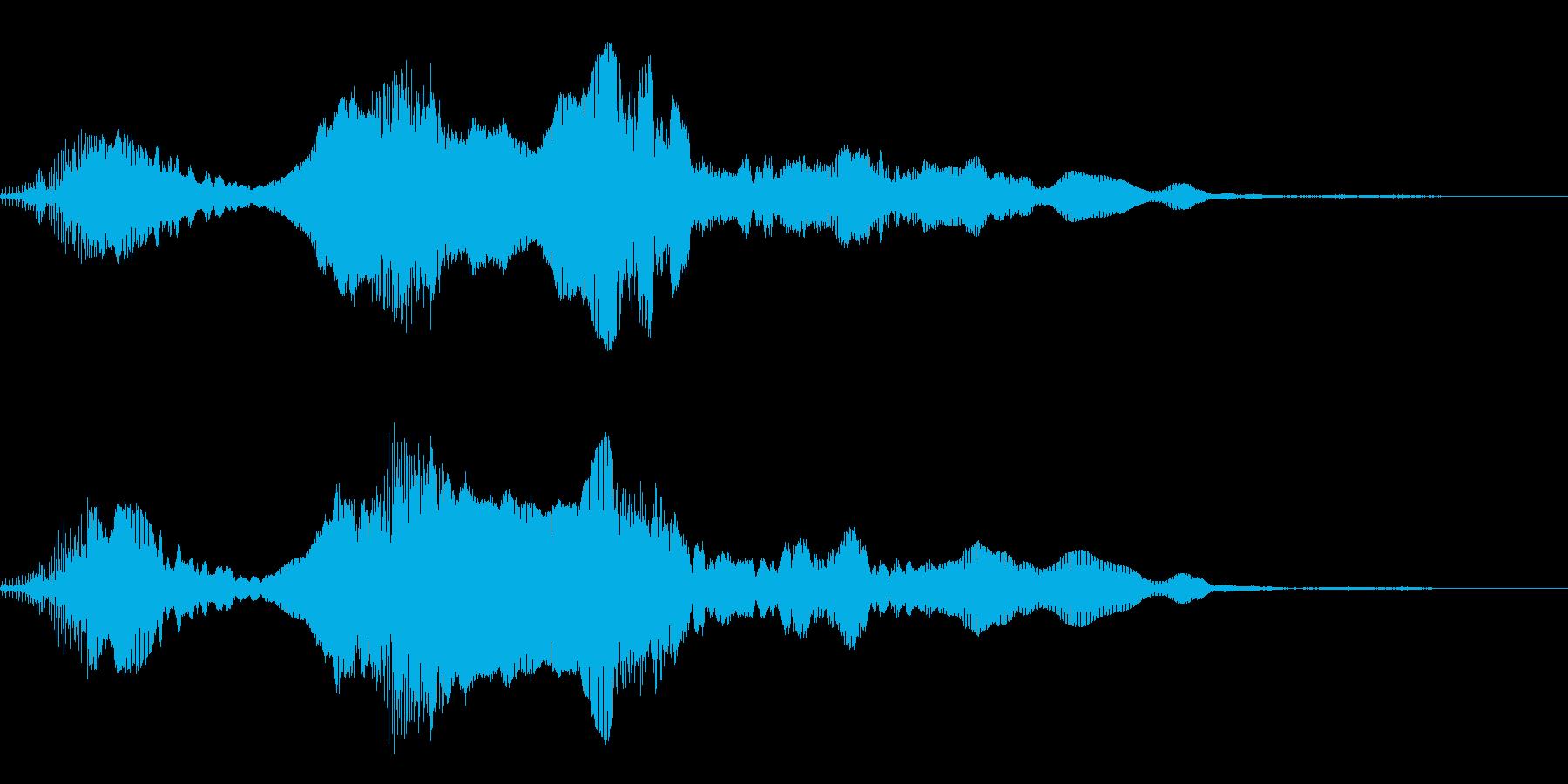 犬の鳴き声(キャイーン)の再生済みの波形