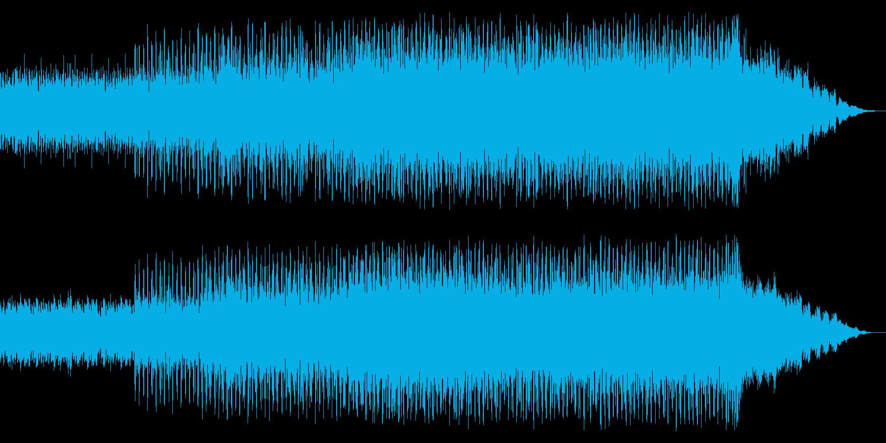 宇宙空間に流れるテクノポップの再生済みの波形
