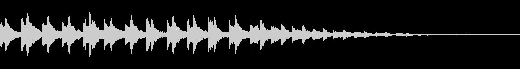 マリンバでのゲームーバー音の未再生の波形