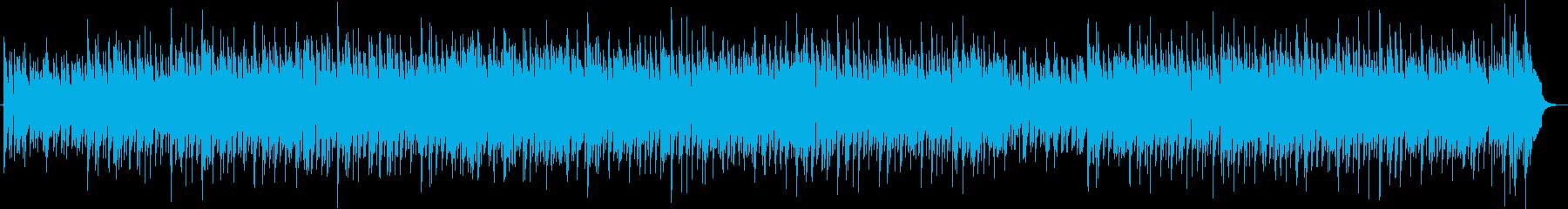 ジャズの落ち着いた映像用BGMの再生済みの波形