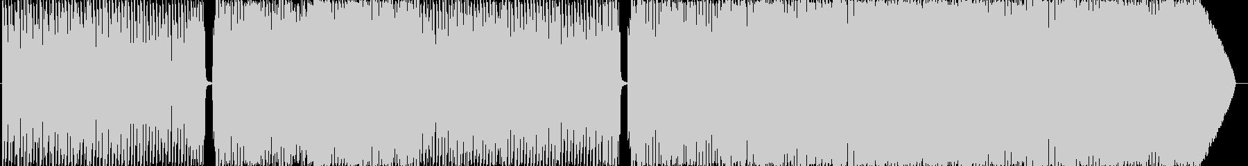 ピアノとフルートのメロディアステクノの未再生の波形