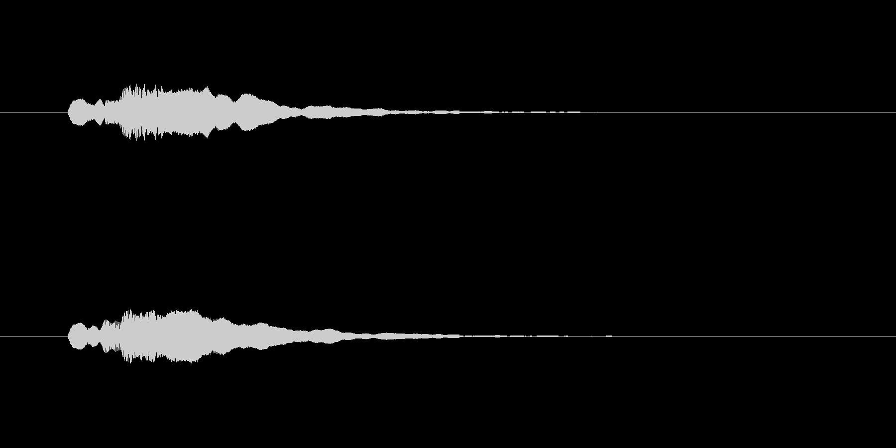キュピーン(ひらめく、きらめくSE)の未再生の波形