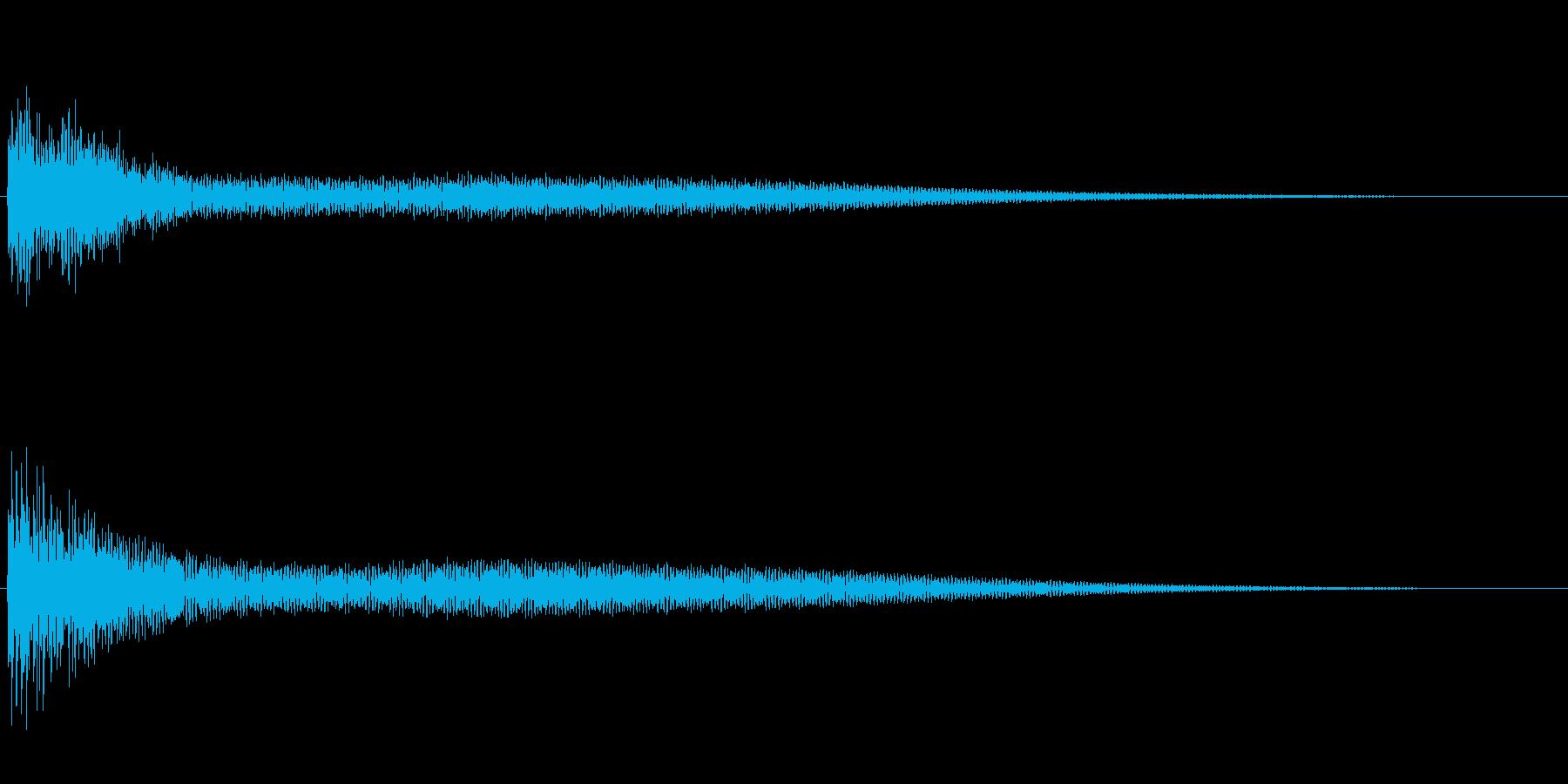 お寺の鐘・梵鐘の再生済みの波形