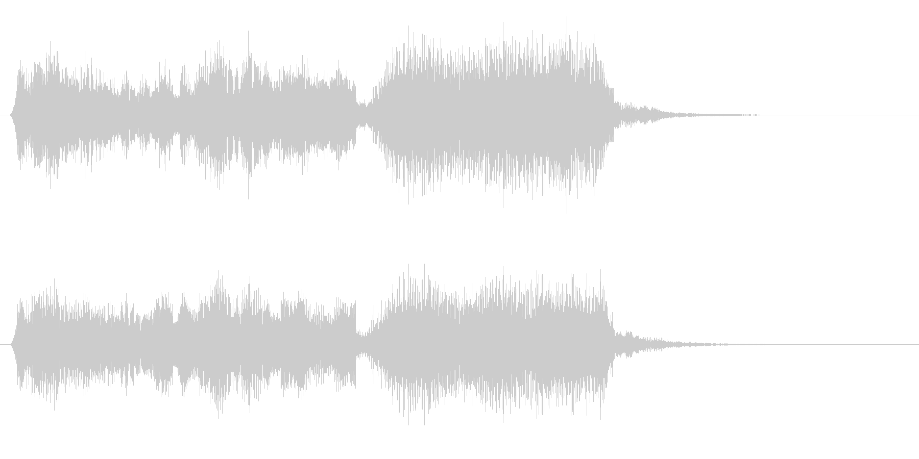アコーディオンのジングルの未再生の波形