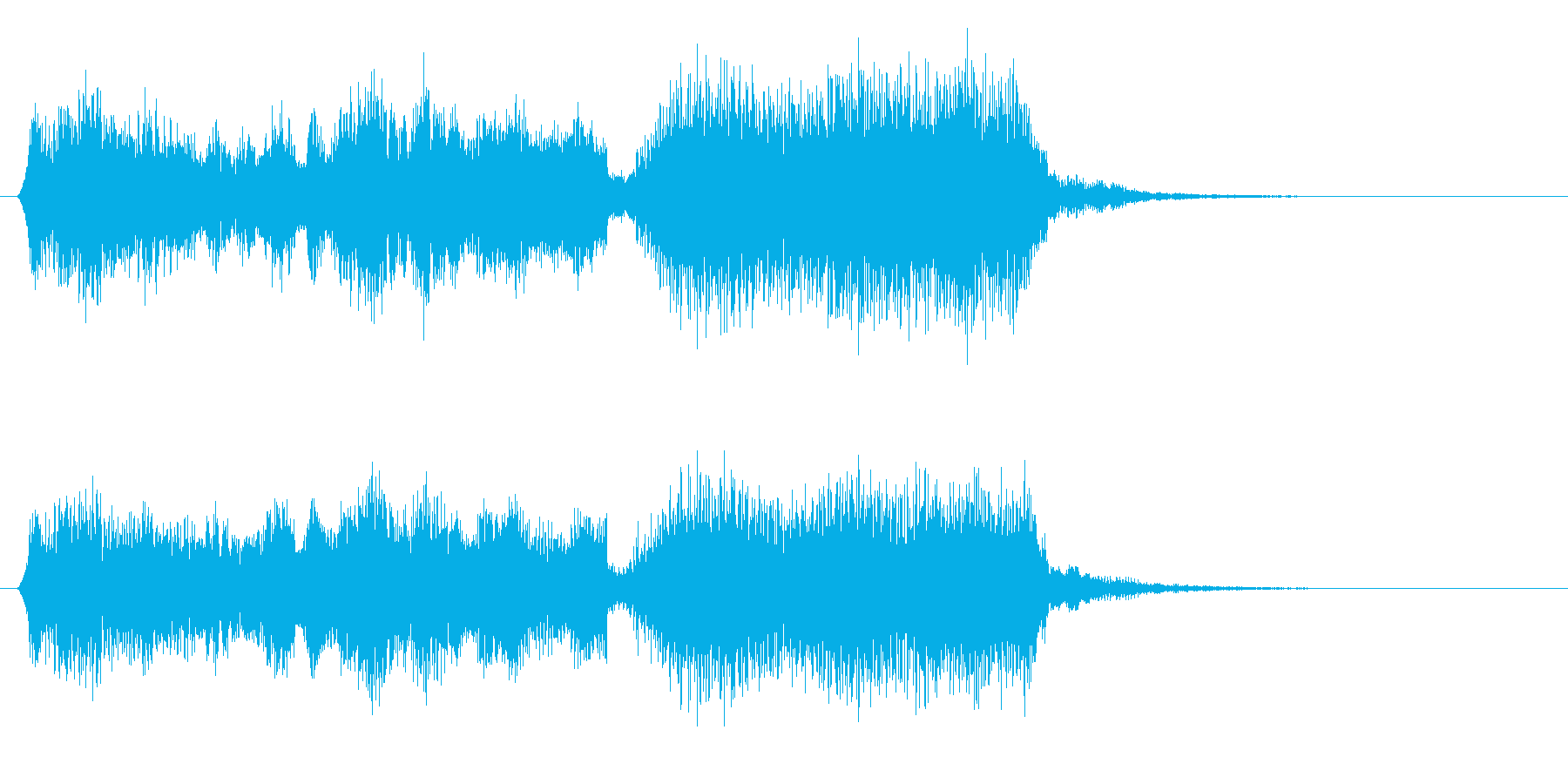 アコーディオンのジングルの再生済みの波形