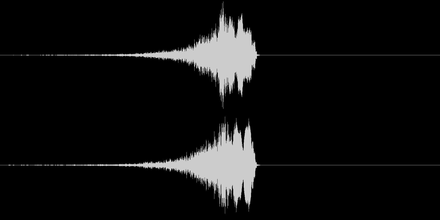 不思議な効果音の未再生の波形