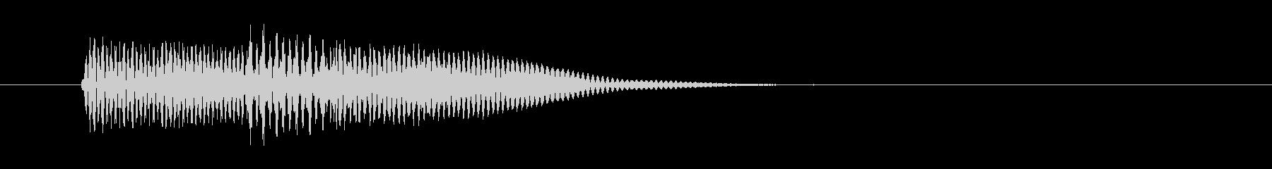 ピロン カーソル移動 決定音 01 高音の未再生の波形