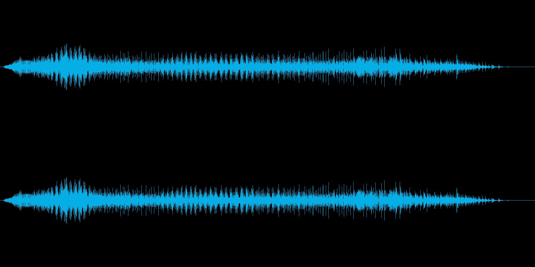 うわぁ!男性の悲鳴の再生済みの波形