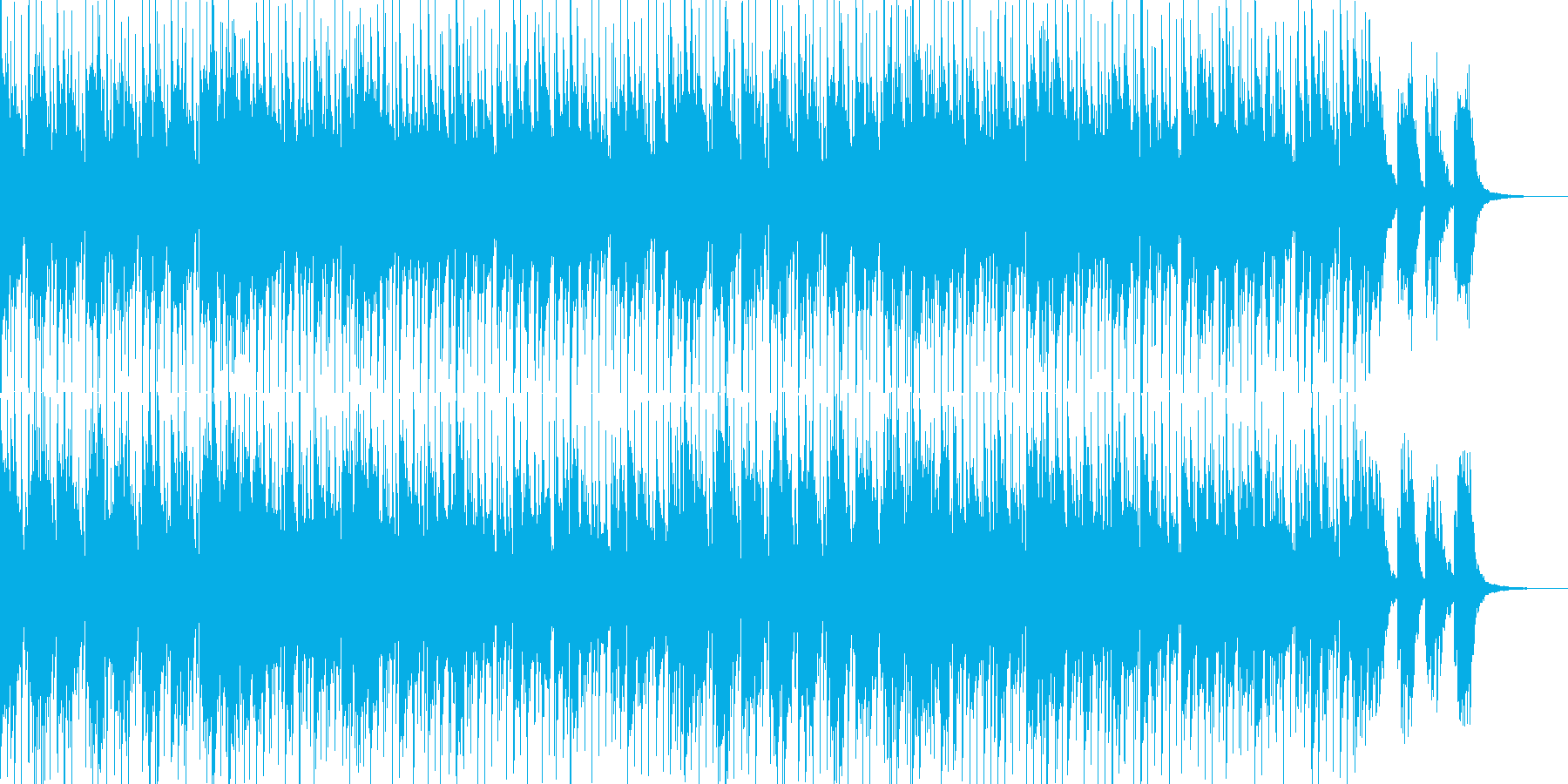 ポップでオーソドックスなフュージョン01の再生済みの波形