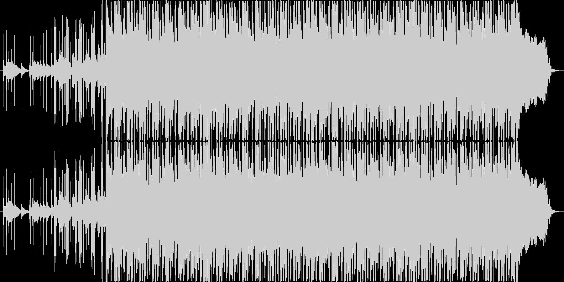 緊張感のあるギターインストの未再生の波形