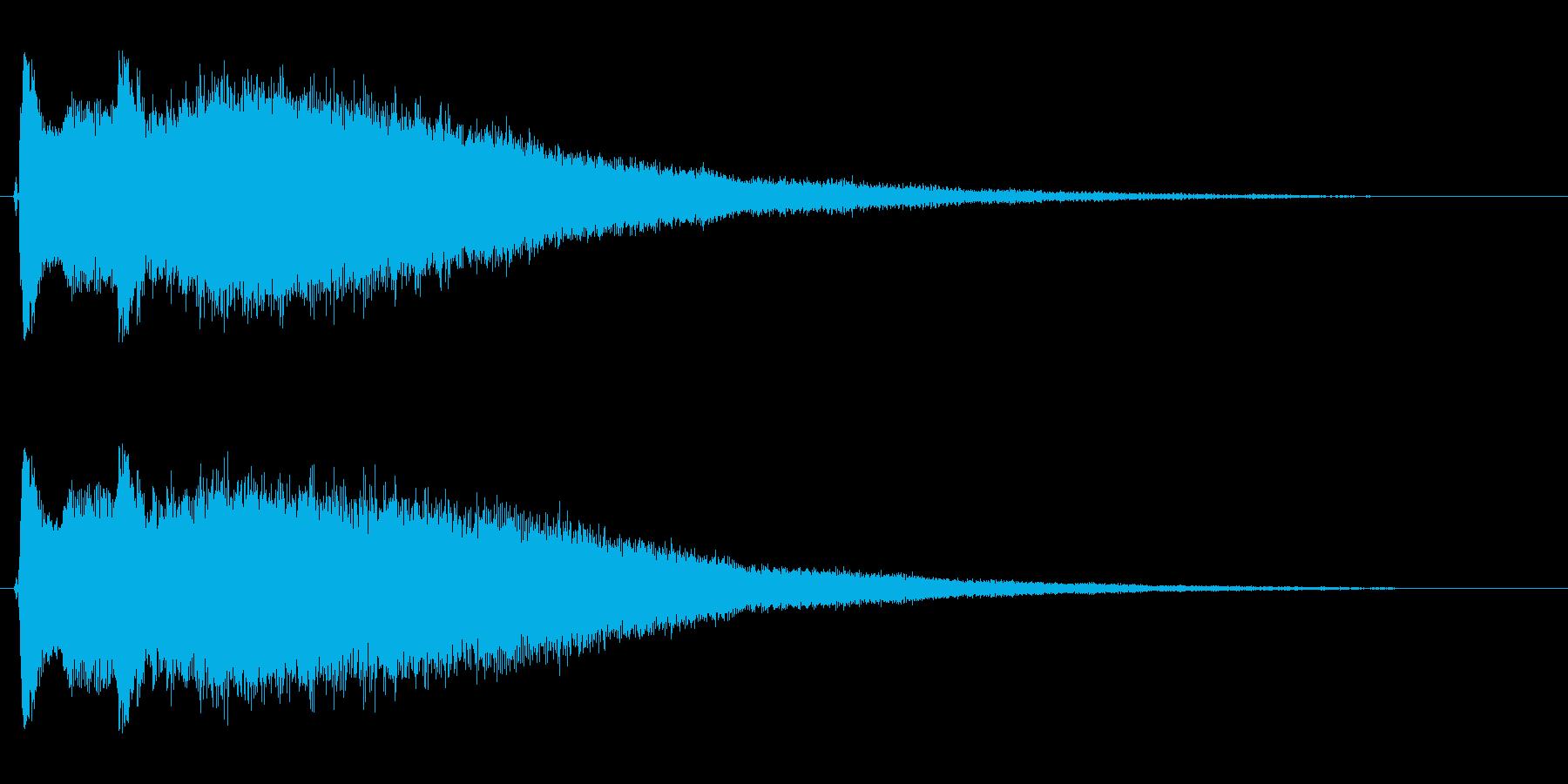 キラーン(キラキラ系)余韻ありの再生済みの波形