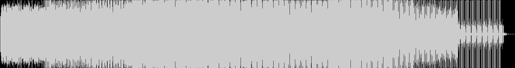 機械的な、リズミックな曲の未再生の波形