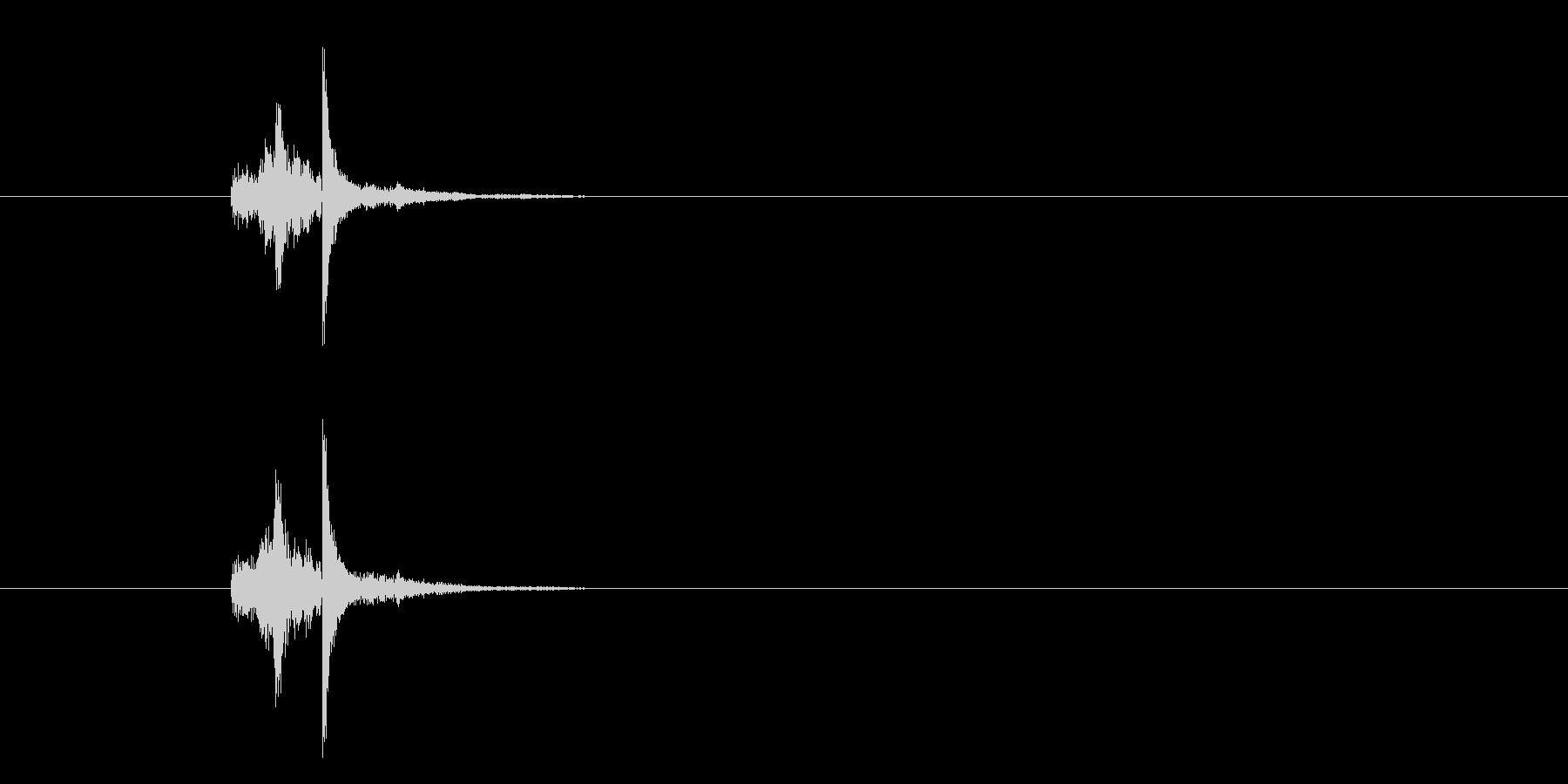 ZIPPO(ジッポ)を開ける音 真鍮無垢の未再生の波形