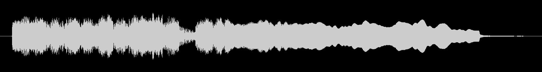 勝利や正解の時のファンファーレの未再生の波形