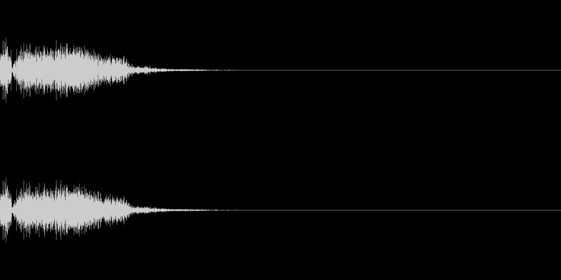 剣・刀で斬りつけた際の斬撃音の未再生の波形