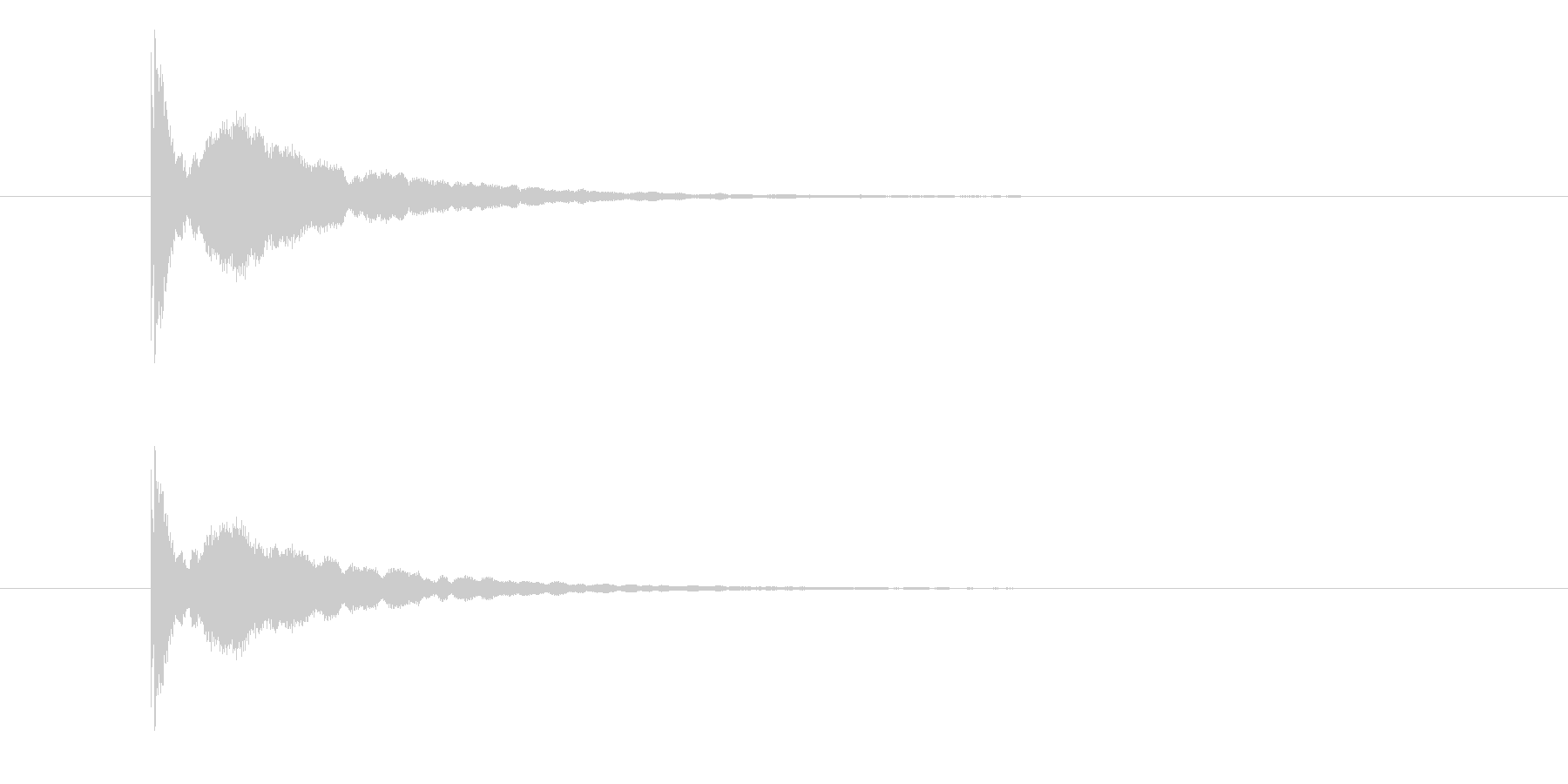 ピ~ン(余韻のあるシンプルな出題音)の未再生の波形