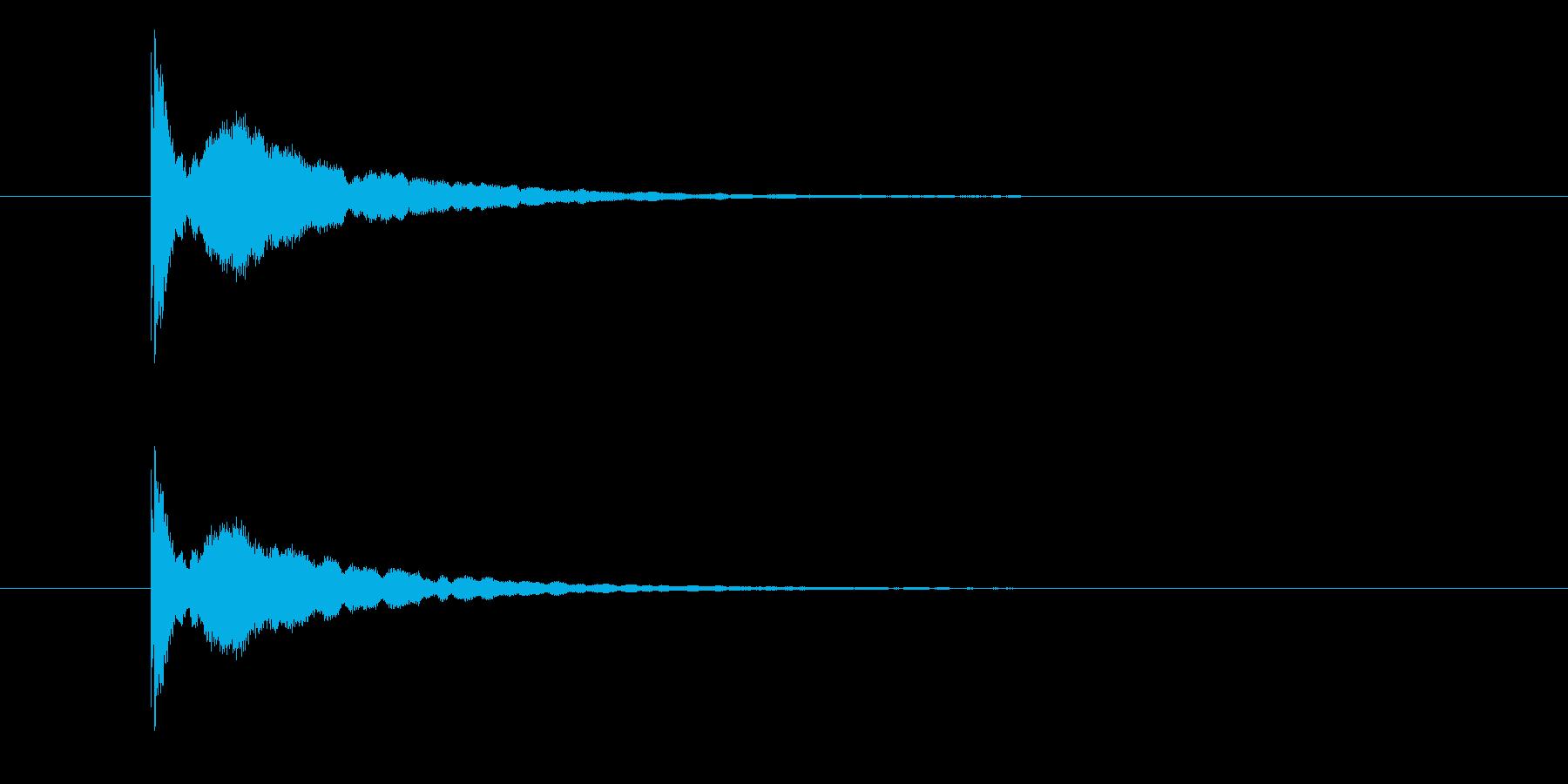 ピ~ン(余韻のあるシンプルな出題音)の再生済みの波形