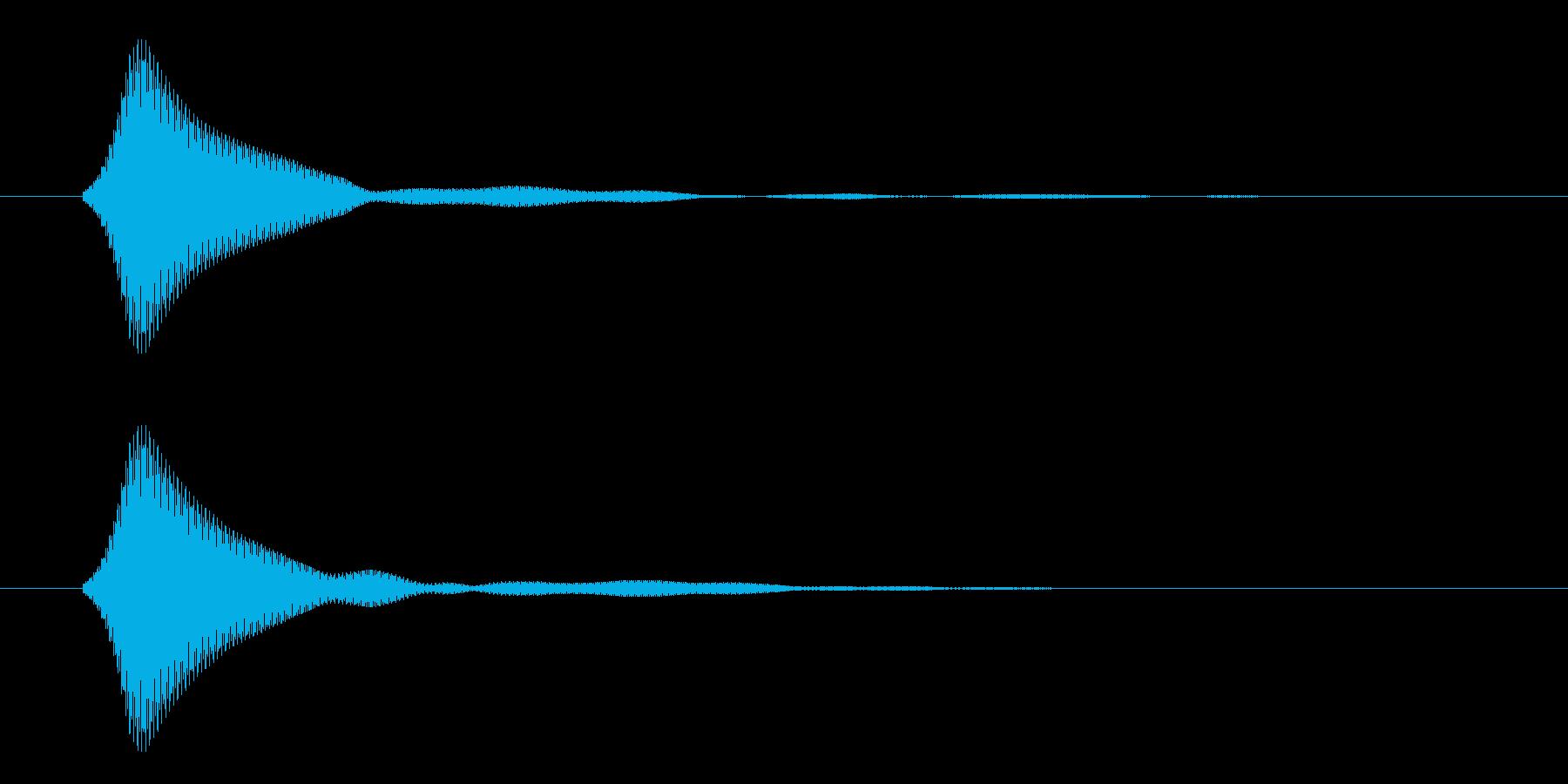 シンプルなボタン音6(ファン)の再生済みの波形