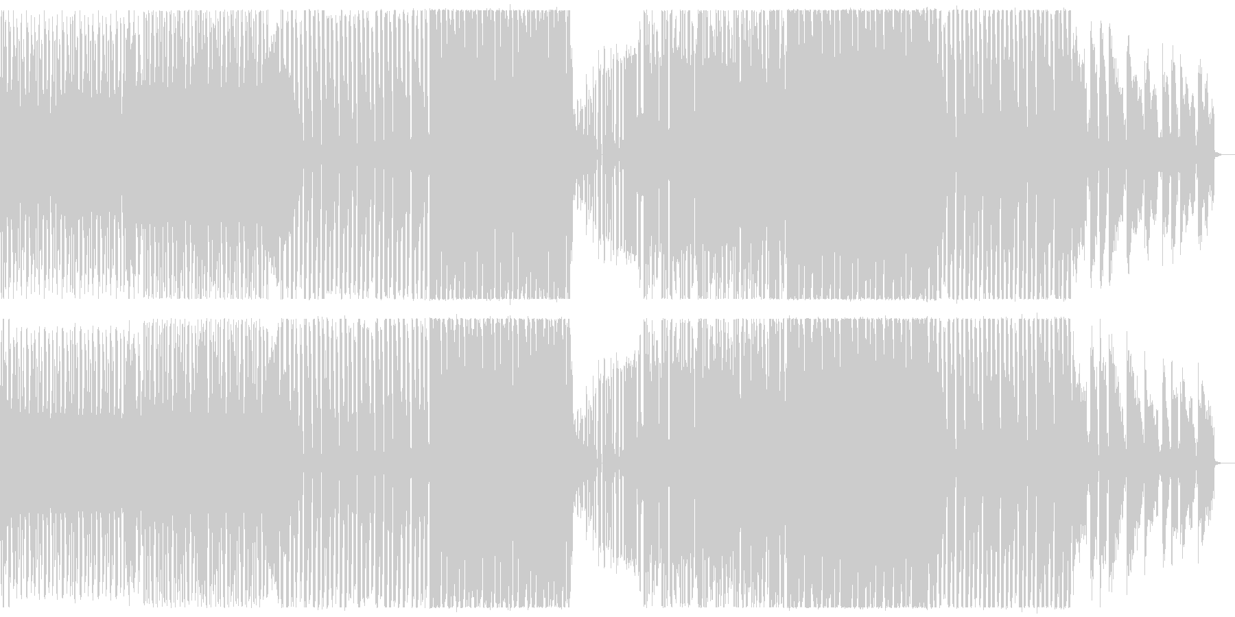 未来的なピアノトリオ調BGMの未再生の波形
