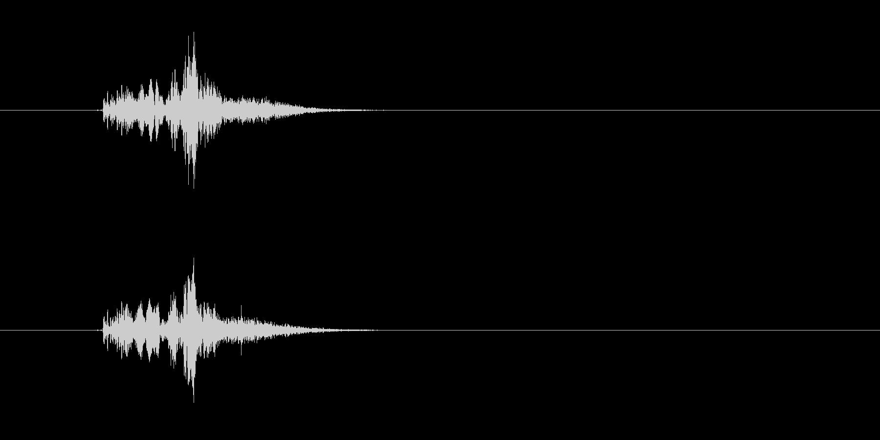 ピュイン(未来的な音)の未再生の波形
