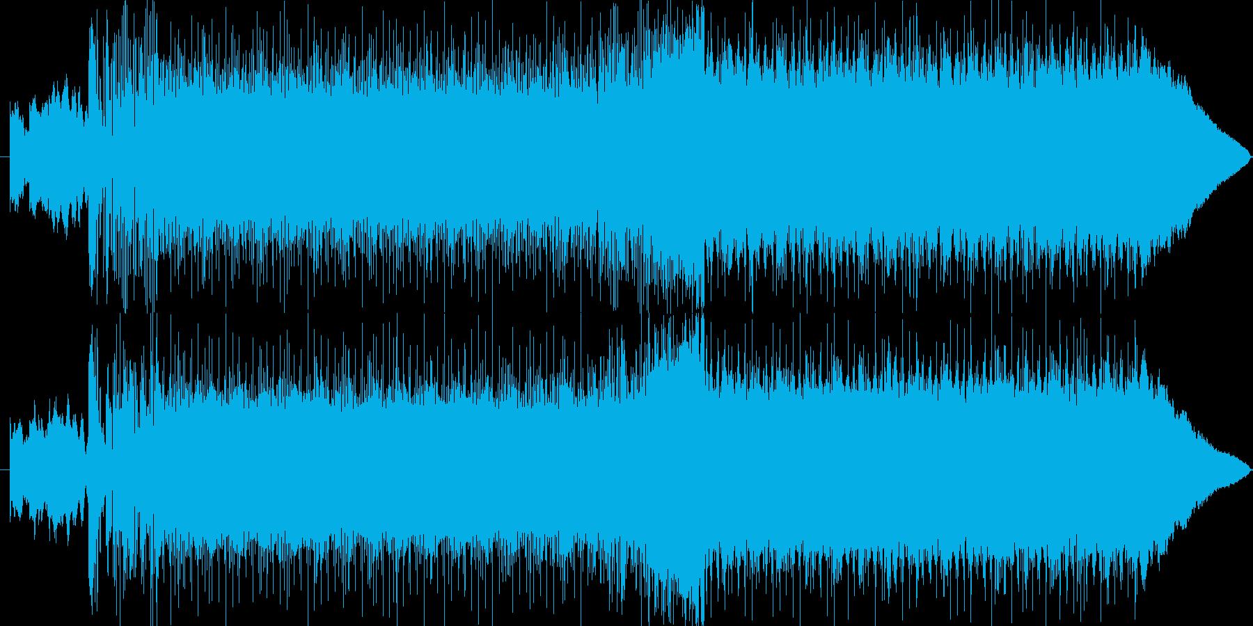 バトルシーンをイメージした楽曲の再生済みの波形
