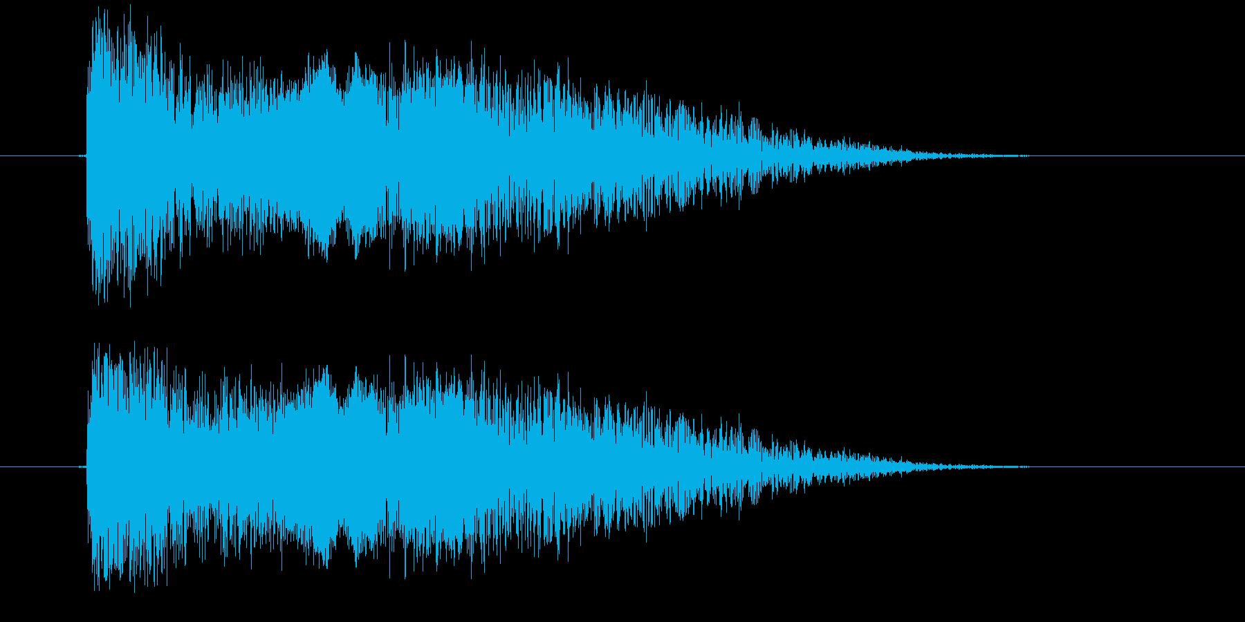 忍者煙幕玉の再生済みの波形