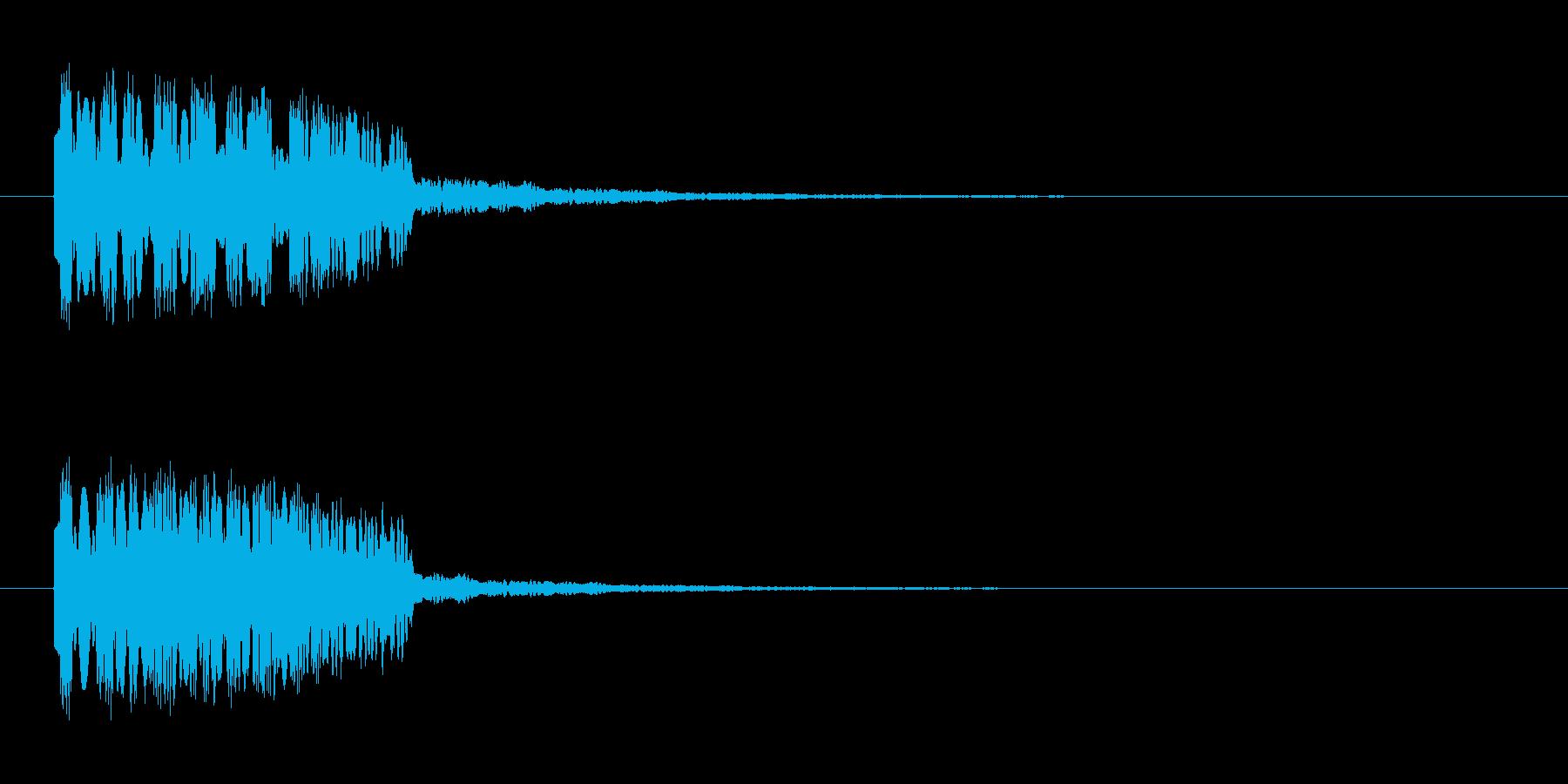 上昇効果音 キラキラ ひょー ひゅうの再生済みの波形