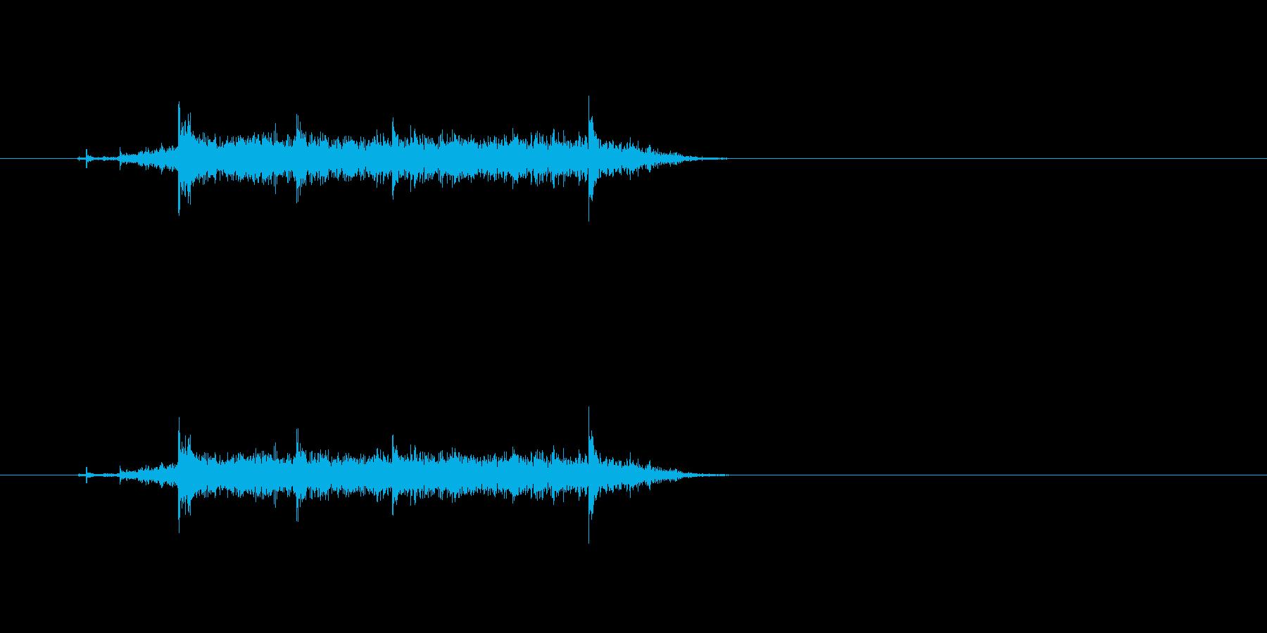 【カーテン02-4】の再生済みの波形