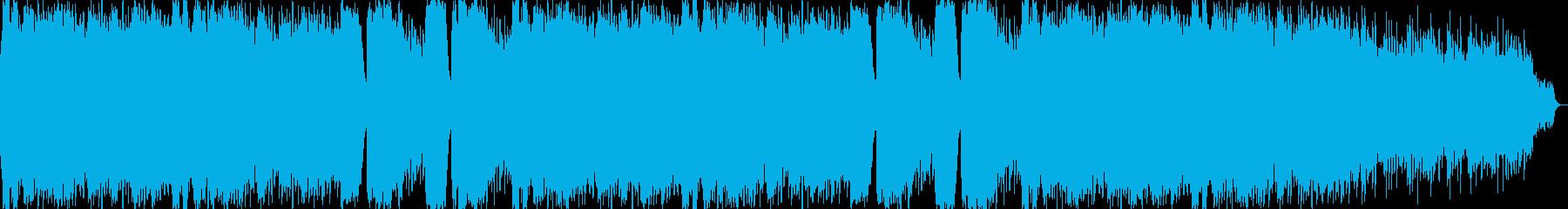 きれいなリラクゼーションミュージックの再生済みの波形