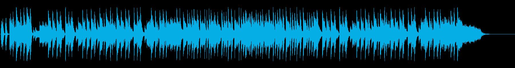 情報バラエティー向けギターインスト曲の再生済みの波形