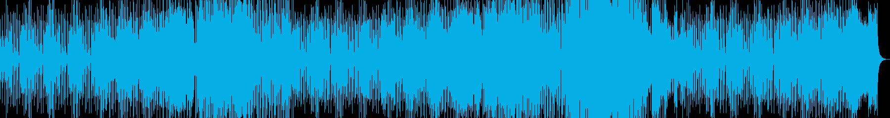 淡々としたリラックスできるBGMの再生済みの波形