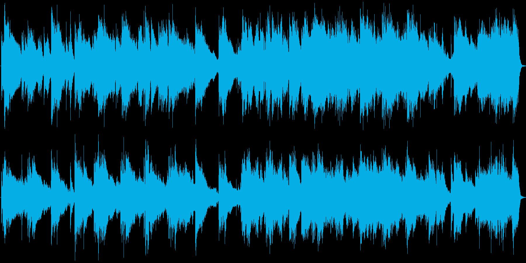 ピアノ・ギター・チェロによる静かな前奏曲の再生済みの波形