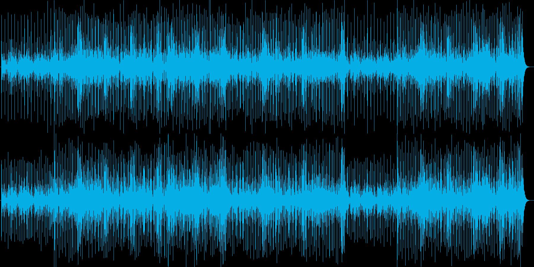 ドラマチックなメロディーのBGMの再生済みの波形
