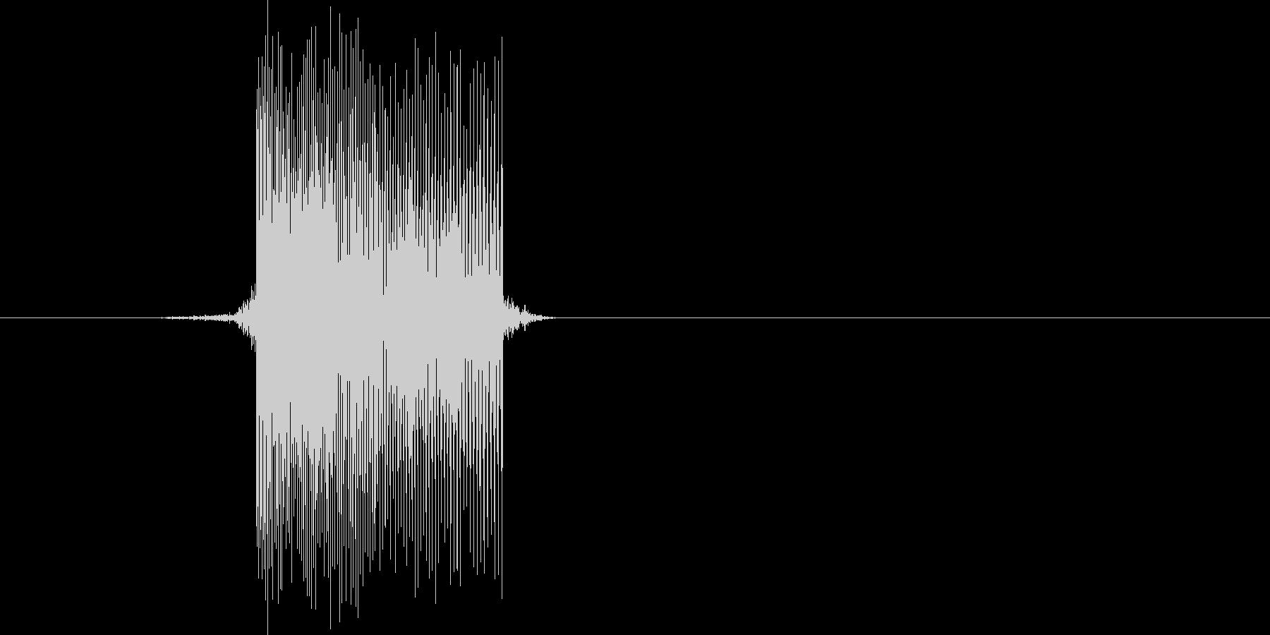 ゲーム(ファミコン風)レーザー音_038の未再生の波形