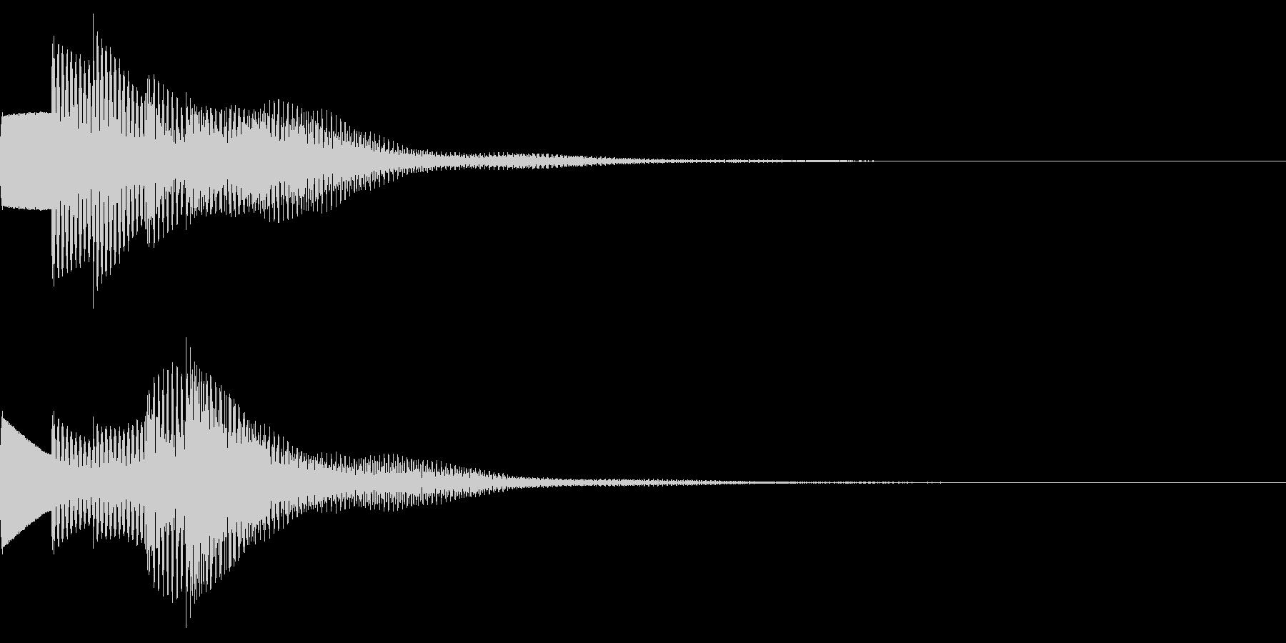 お知らせ音02(ベル系)02の未再生の波形