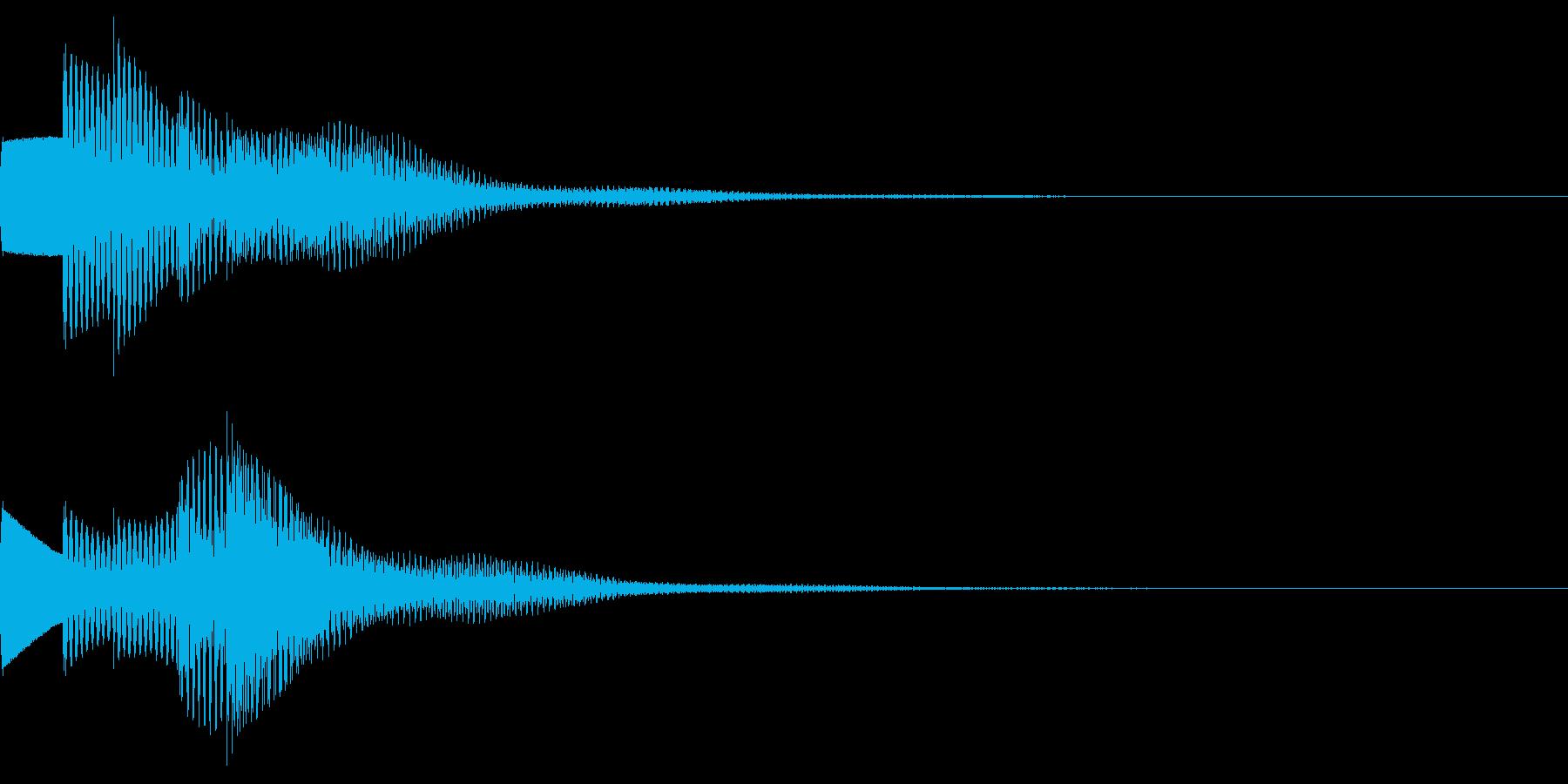 お知らせ音02(ベル系)02の再生済みの波形