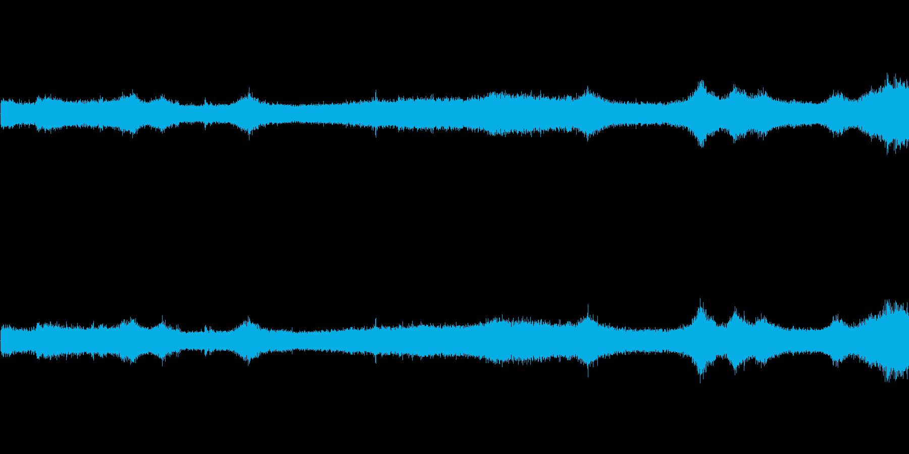 【生音】夏の日の通行音 - 8 「みー…の再生済みの波形