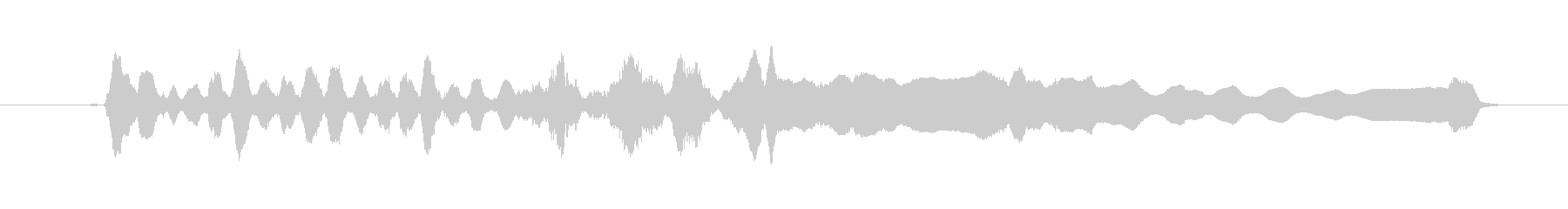尺八によるジングルの未再生の波形