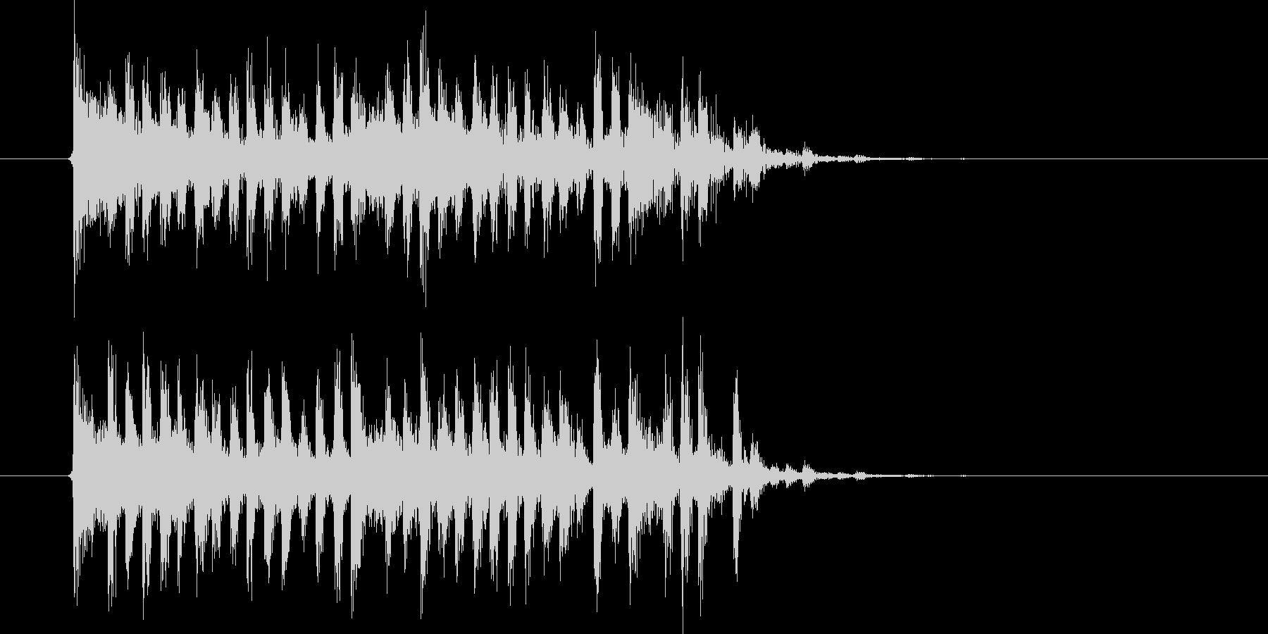 切なく激しいテクノ音楽の未再生の波形