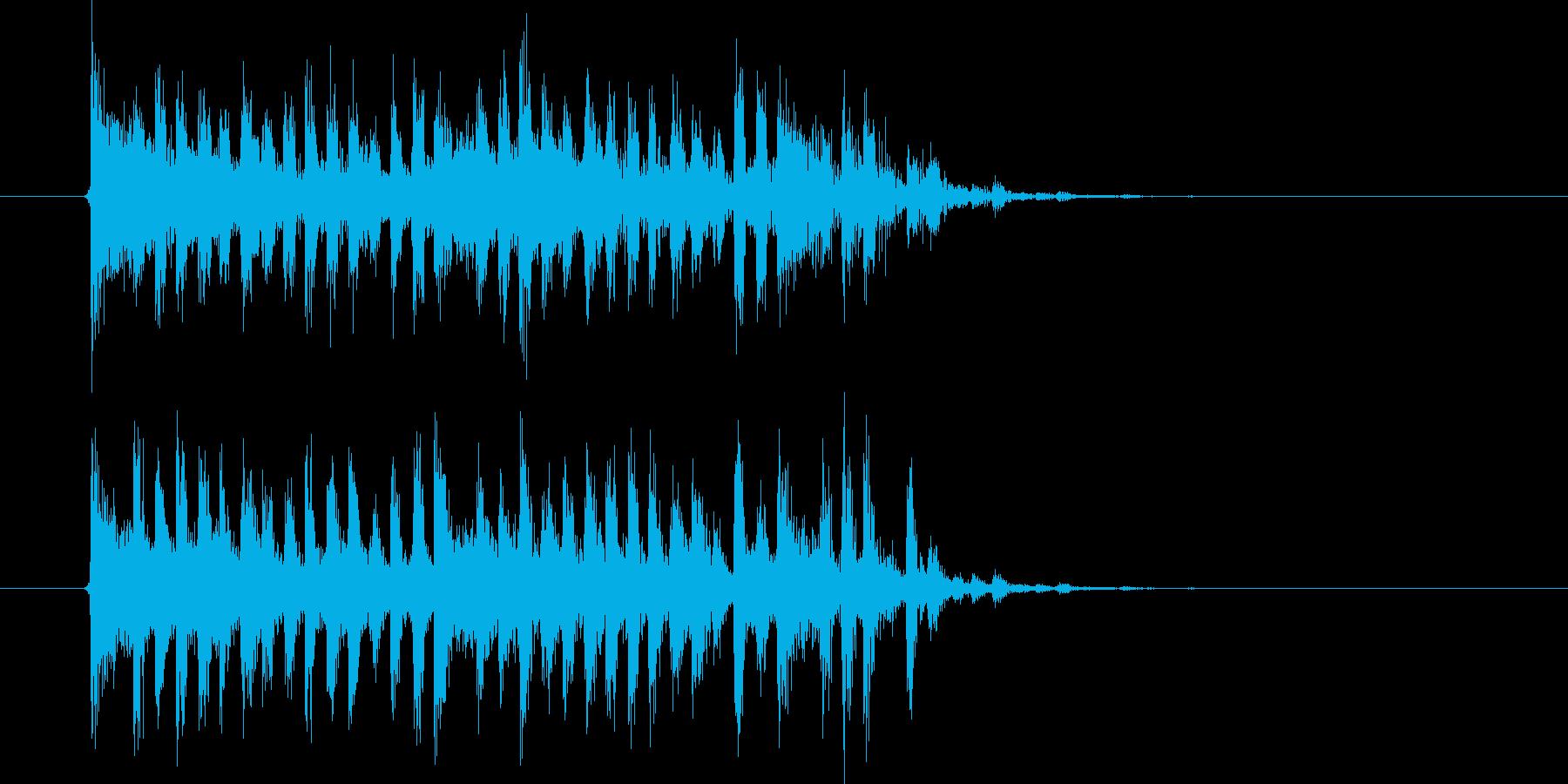 切なく激しいテクノ音楽の再生済みの波形